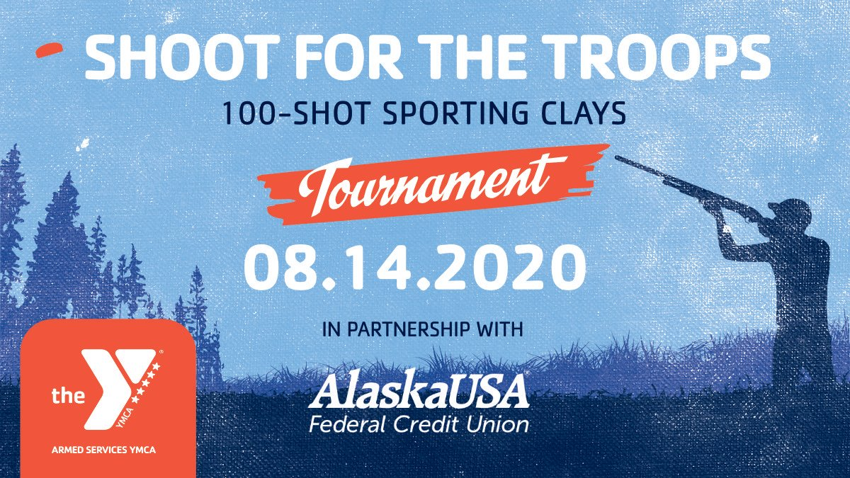 Get ready to lock and load! In partnership with @alaskausafcu the ASYMCA invites you to join us for our 4th Annual Shoot for the Troops Sporting Clay Fundraiser on August 14. Learn more, partner with us, or register, visit https://t.co/NKL99rad9Z. https://t.co/s49ghv2jNl