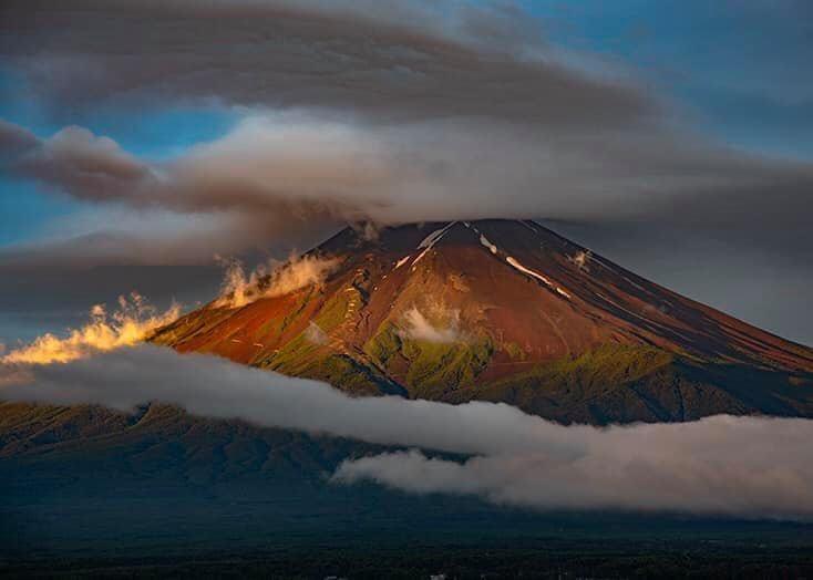夏の富士山。