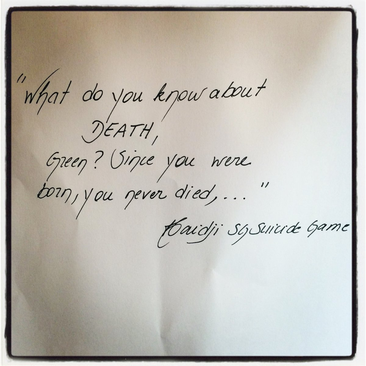"""Book Quote: """"What do you know about DEATH, Green? ..."""" Click on  https://haidji.blogspot.com/2020/07/to-see-all-books-on-amazon-click-on.html?spref=tw… #life #death #quoteoftheday #dailyquote #haidji #quotes #quote #bookquote #bookquotes #reading #books #amazonbooks #kindleunlimited #ebook #paperback #read #BookBoostpic.twitter.com/2s34q35Dx2"""