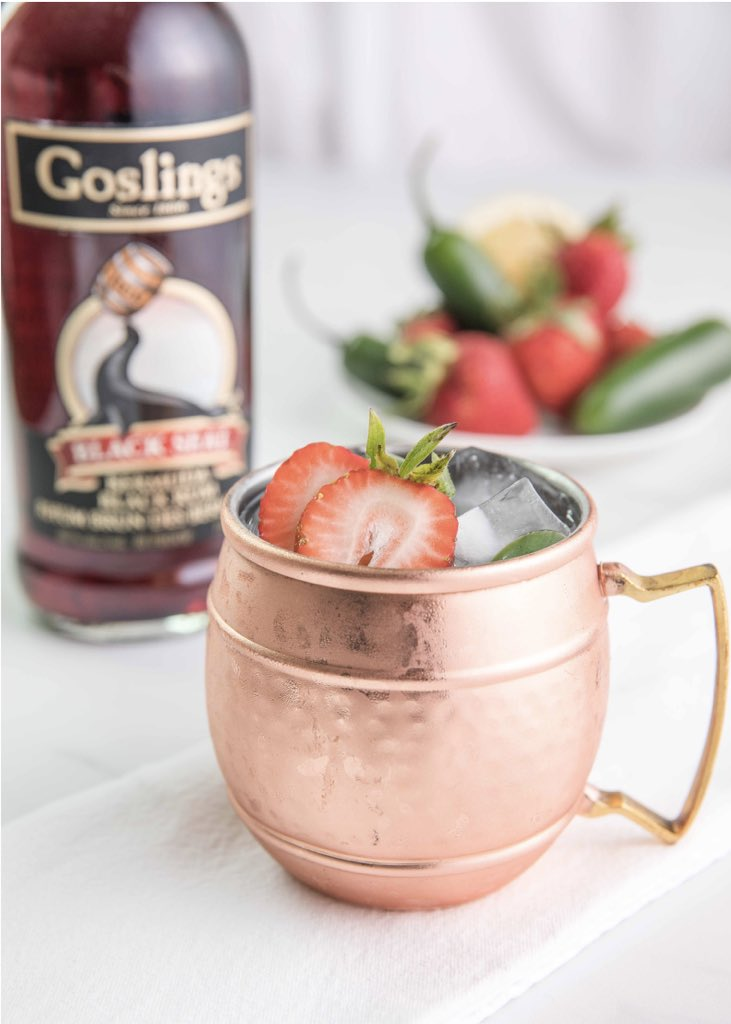 test Twitter Media - Spring 'n Stormy  Recipe by: Monica C    @liqculture   Ingredients * 1.5 oz Goslings Black Seal Rum * ½ oz Freshly Squeezed Lemon Juice * 2 oz Ginger Beer * 2 Strawberry Sliced 1 for garnish * 3 thin slices of Jalapeno.       #goslingsrum https://t.co/toCEQKyQAE