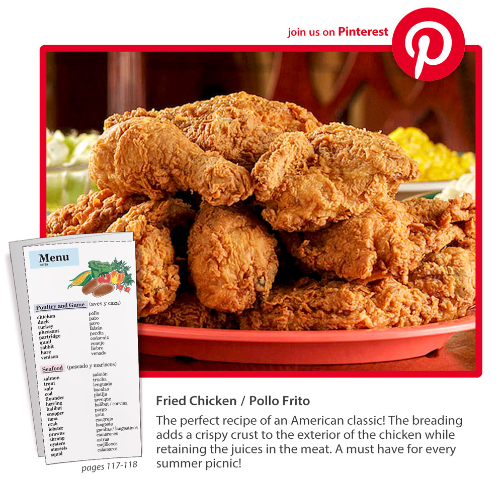 Pollo Frito or Fried Chicken – delicious in both languages! Save 30% on INGLÉS through July 14 (coupon: ING0720). #ESL #TESOL #TEFL #eslteacher   http://bbks.com/ingles/ pic.twitter.com/qTXW1WBQ4l