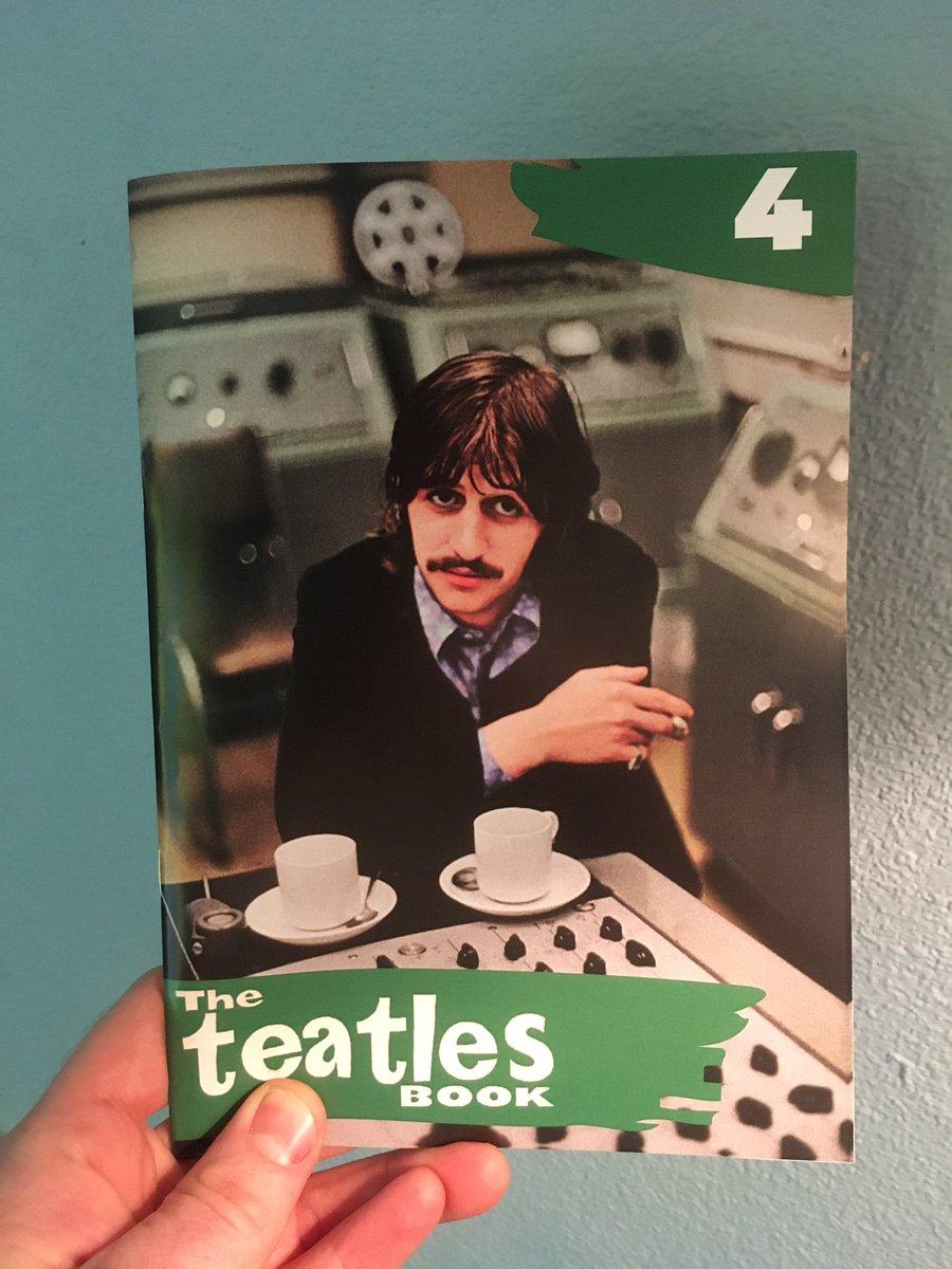 Teatles Book #4! 32 pages by @clevelandbeyond @400FootGhost Del Pike @NickQuantrill @elliearty @teawriter79 @blackbirdbread Mark O'Callaghan @beatleboot @CrossanAlan @MJHibbett @MusicDevotee6 & @simonhreid £4 UK/£6.50 Europe/£8 ROW 1st 100 orders get a FREE mini zine. DM me!