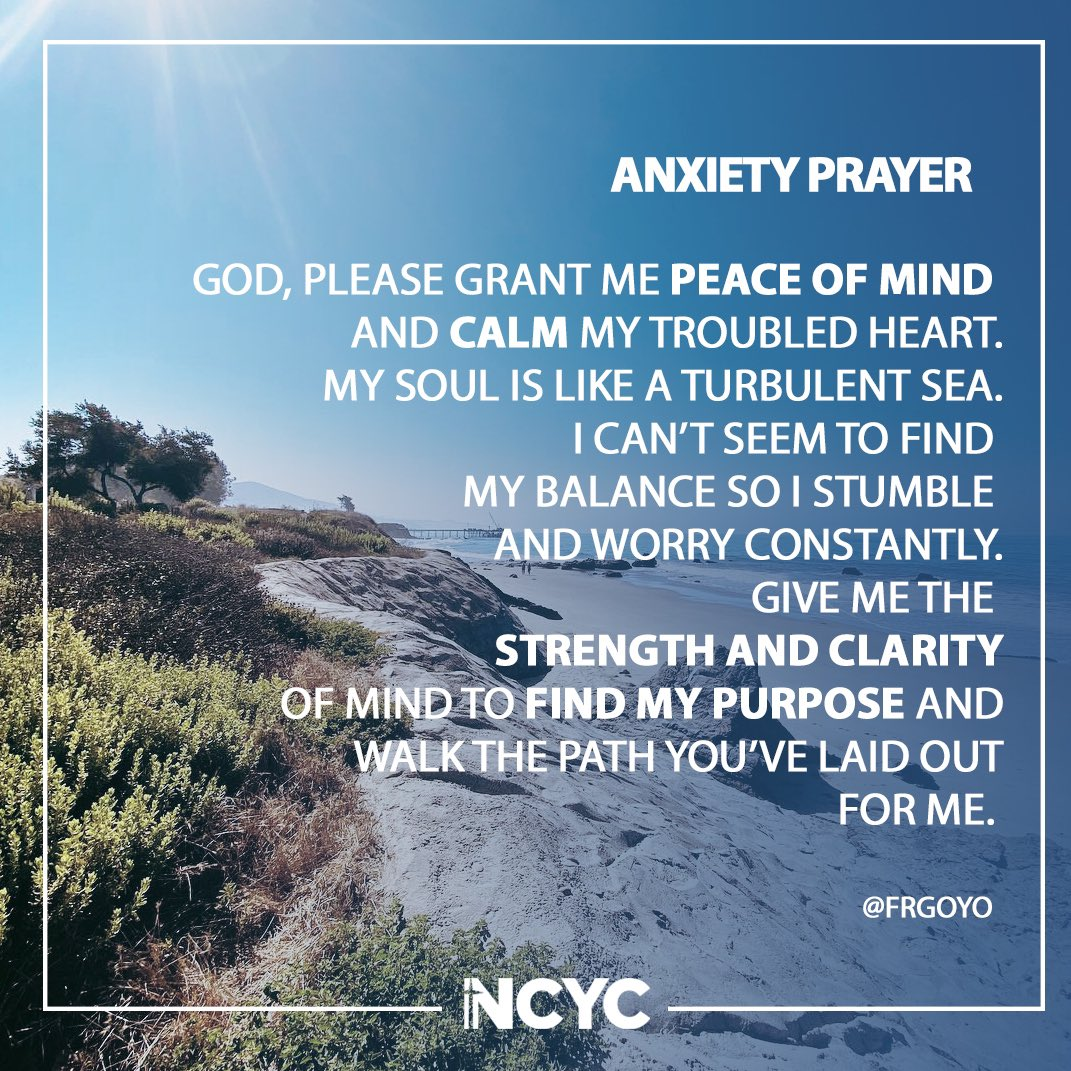 Thank you @FrGoyo for sharing this prayer with everyone. #prayer #anxietyprayer #CatholicTwitter
