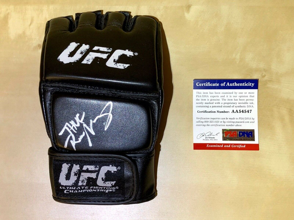 Thug Rose! Thug Rose! autographed UFC glove only $100. #UFC251 #UFCFightIsland #ThugRose  https://t.co/bStFxp5Nz3 https://t.co/UJ9wl5ZGwq