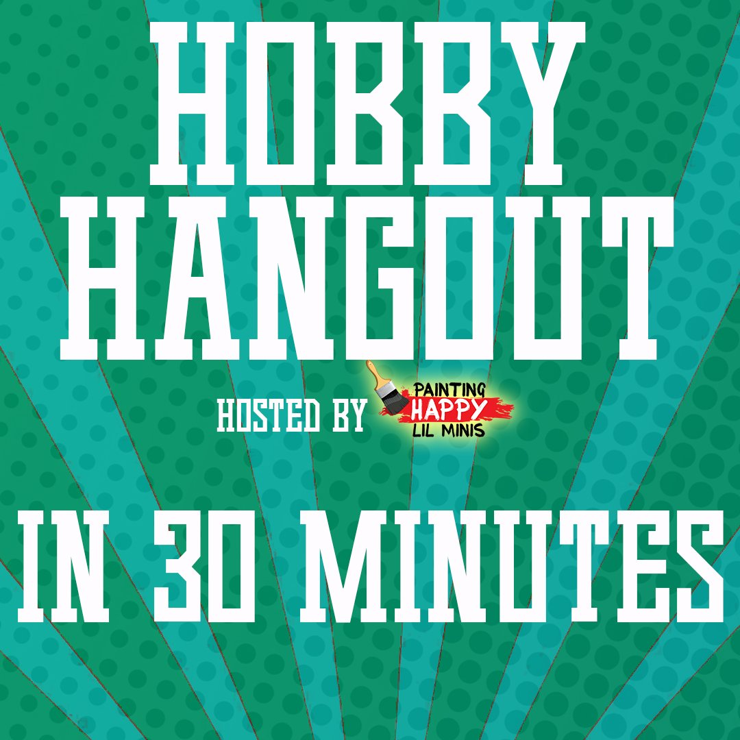 In just 30 MINUTES! Hobby Hangout will be LIVE! Join us here: https://t.co/6cqvqpjAqD .  #tutorial #howto #howtotutorial #minis #paint #painting #painters #paints #paintingwarhammer #roleplaying #boardgames #dungeonsanddragons #scalemodel #miniatures https://t.co/VGs6ka4G2i https://t.co/0Z1QwB7BXG
