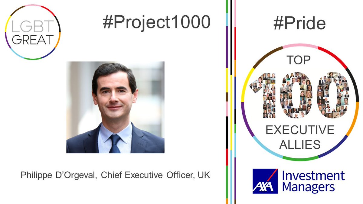 """We are all stronger and can work better together when everyone feels that their voice can be heard and they can tell their stories"" - Philippe D'Orgeval, Chief Executive Officer, UK, @AXAIM #Project1000 #Pride #YouMeUsWe https://t.co/h4zmZbRJwZ https://t.co/4j2G4WcGhl"