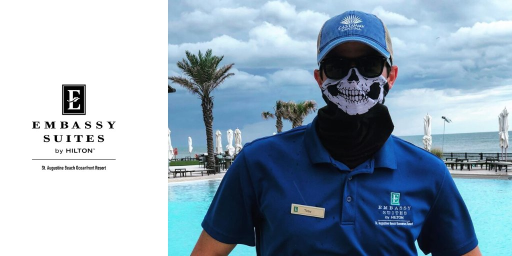 Don't let our Recreation Manager, Trey, scare you away from having a good time! #StAugEmbassy #beach #vacaypic.twitter.com/Y8LTxhlvVs