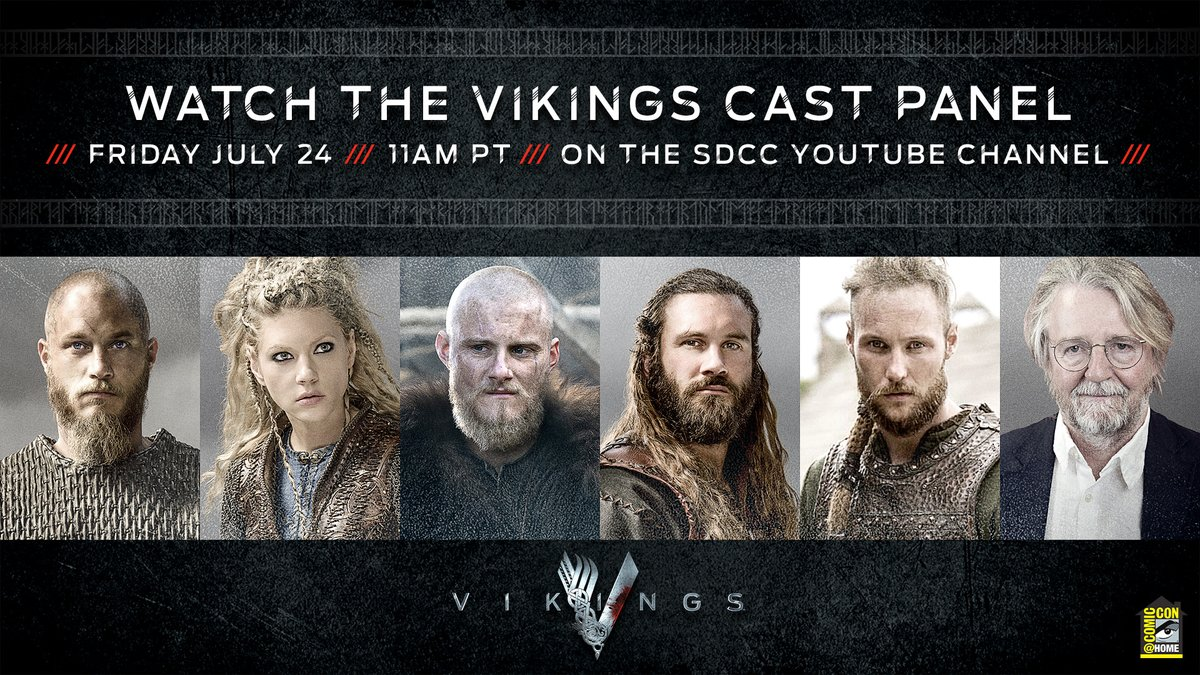 We're putting the War Band back together! Join me and these other ugly mugs plus...Katheryn and Micheal for the San Diago #ComicCon at Home Vikings panel on the #SDCC YouTube channel on  Friday, July 24 at 11AM PST. https://t.co/IloPdul65z