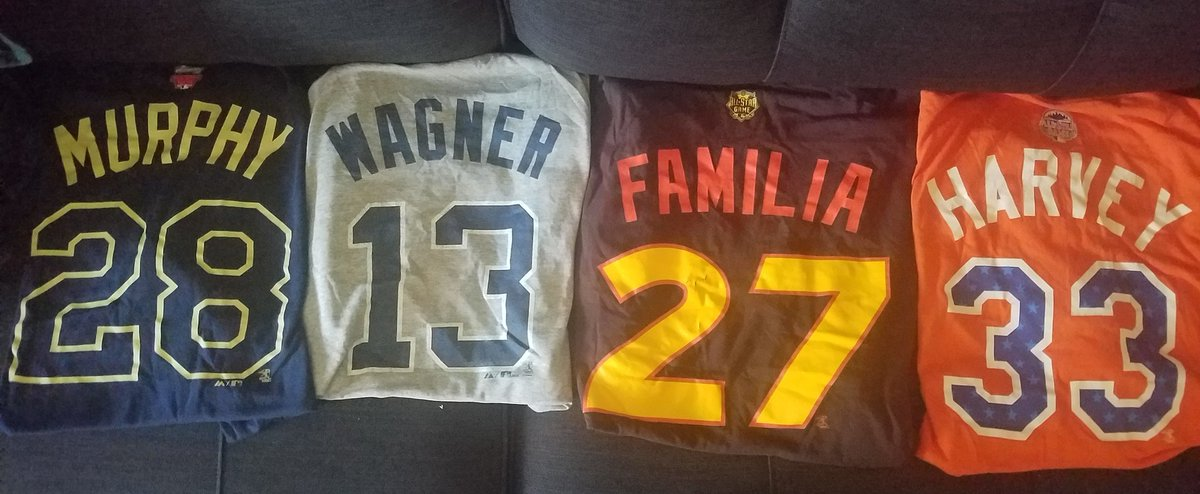Just realized we're coming up on @MLB All-Star game time.  Won't be one this year, so no new addition to the @Mets collection. I gave my sister my David Wright one, but don't remember why! #LFGMpic.twitter.com/f89dTOF9Tu
