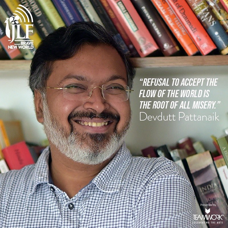 Fear of the unknown is the most debilitating of emotions. On #JLFBraveNewWorld July 10, mythologist and storyteller @devduttmyth speaks to publisher @MeruGokhale on the archetypes of fear that must be overcome to deal with the realities of life as they are dealt out to us. https://t.co/yDQ1HFXzHq
