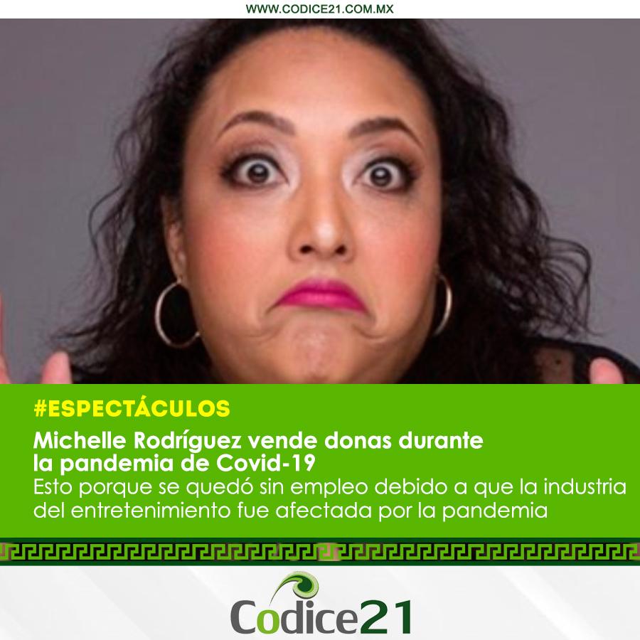 Comediante mexicana #MichelleRodríguez ahora se dedica a vender donas La standupera buscó alternativas económicas ante la crisis generada por la pandemia pic.twitter.com/SczqJSr8Oj