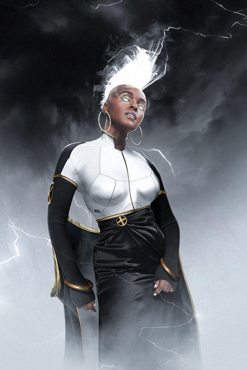 Some @bosslogic fan art, would you like to see Janelle Monae as Storm in the MCU?  #janellemonae #xmen #marvel #mcu #whatif https://t.co/AjDEzfCYwL