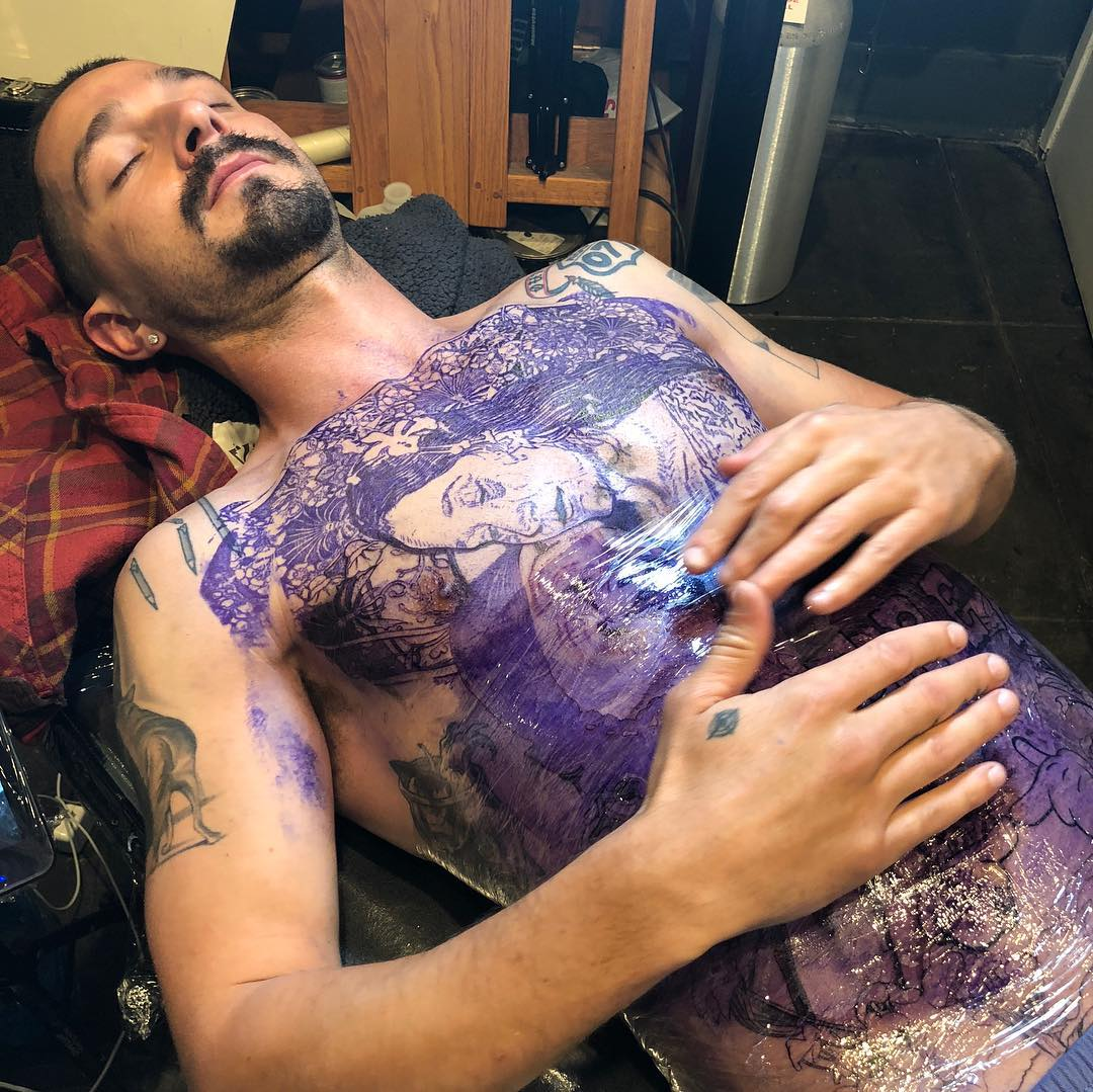 Shia LaBeouf got VERY extensive ink for 'Tax Collector' role: bit.ly/38IPupV