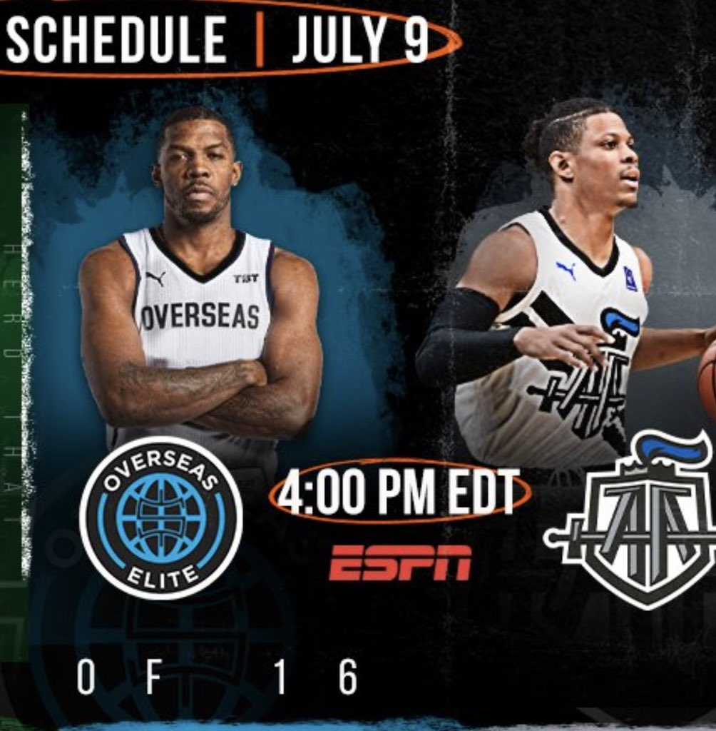 """Can't wait to see @TheJoeJohnson7 Iso Joe,former NBA AllStar,runnin with 4 time @thetournament champs @overseaselite at 4pm @espn. Guaranteed to see Joe..walk somebody down..hear his teammate yell """"he's too little""""...and you know what happens next🔥🔥 https://t.co/9yZsN3XmtK"""