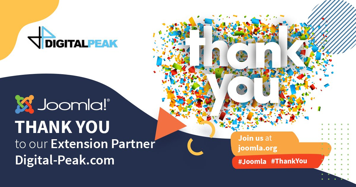 joomla: A big shout out THANK YOU to our Extension Partner digitpeak for your support! You guys rock!  #Joomla #ThankYou #ExtensionPartner #grateful    https://www.digital-peak.com/ pic.twitter.com/gPiGwUsSfd #joomla #opensource