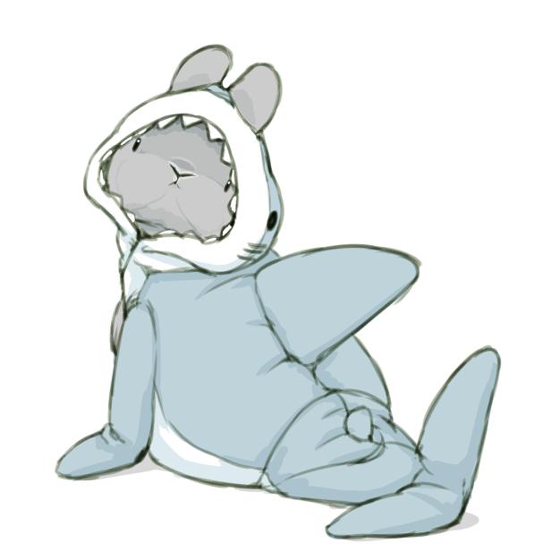 きぐるみパジャマ サメごっこ