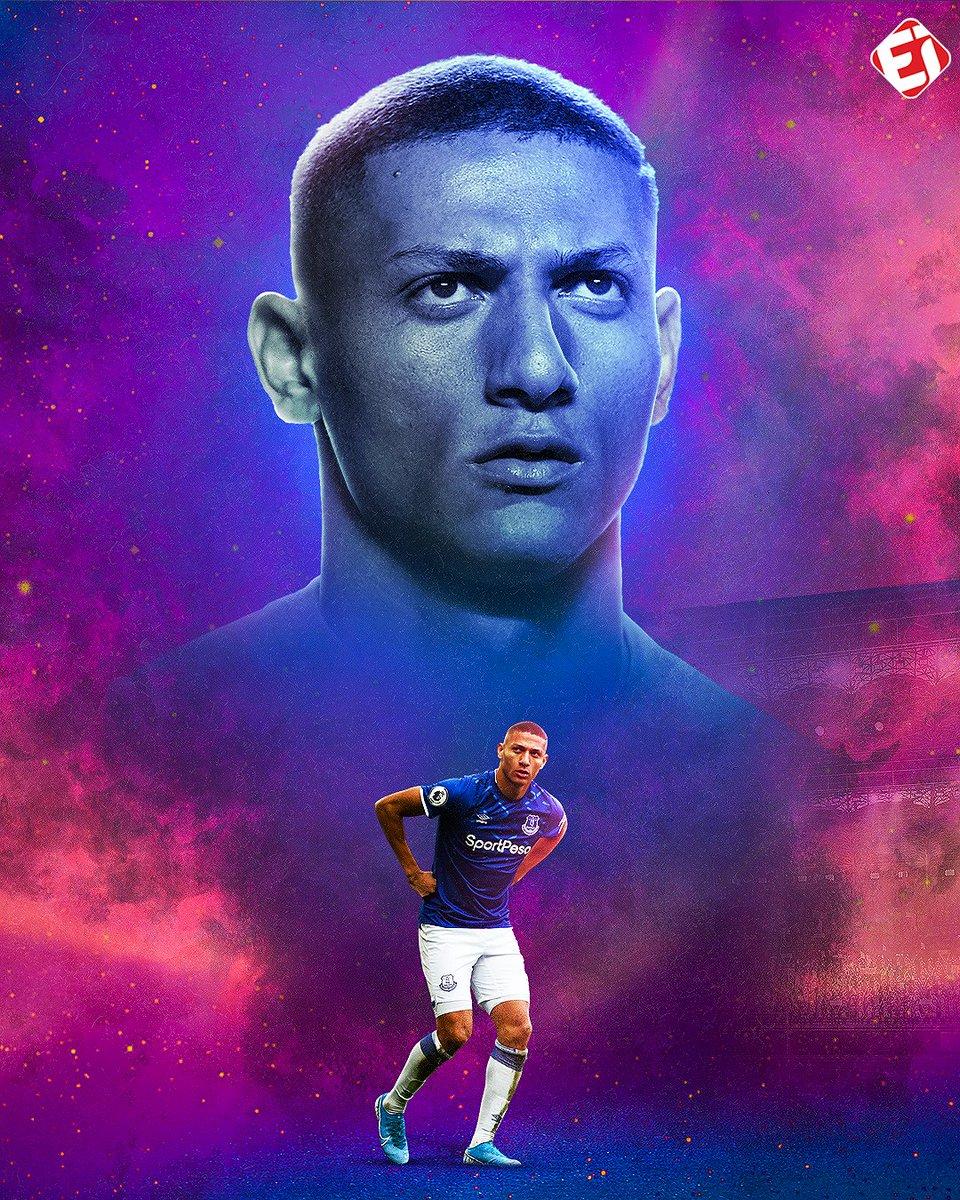 VOANDO! Richarlison ultrapassou Gabriel Jesus e se tornou o brasileiro que mais vezes balançou a rede na atual temporada da Premier League, com 12 gols! Que fase é essa, amigo! 💥💥💥 #Richarlison #Everton #PremierLeague