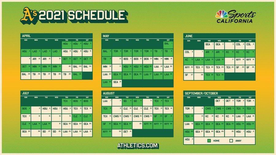 ¡Así será nuestro calendario en el 2021! #HechoEnOakland https://t.co/MAJFYYwGHS