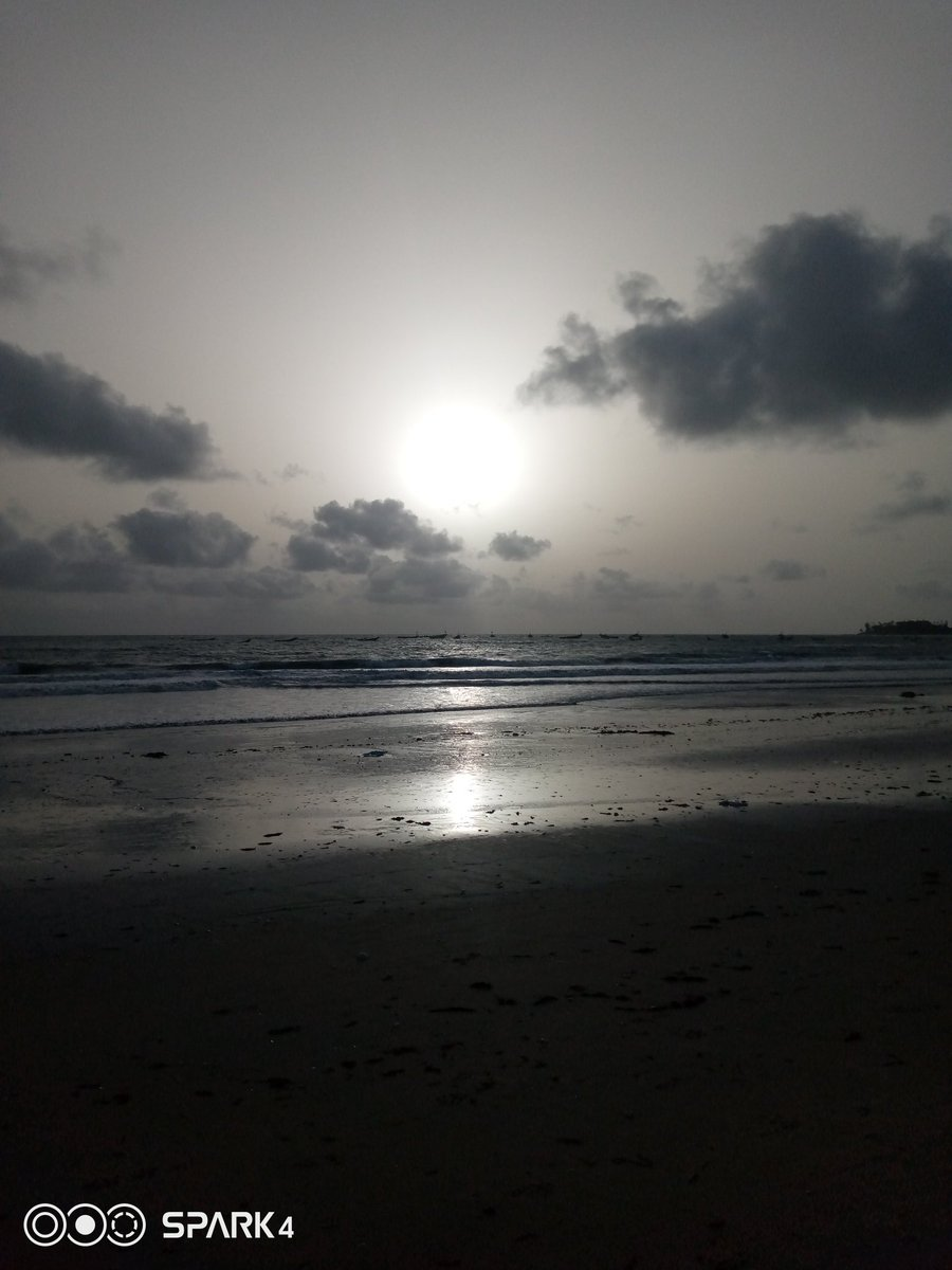 Atlantic ocean view from the Gambia