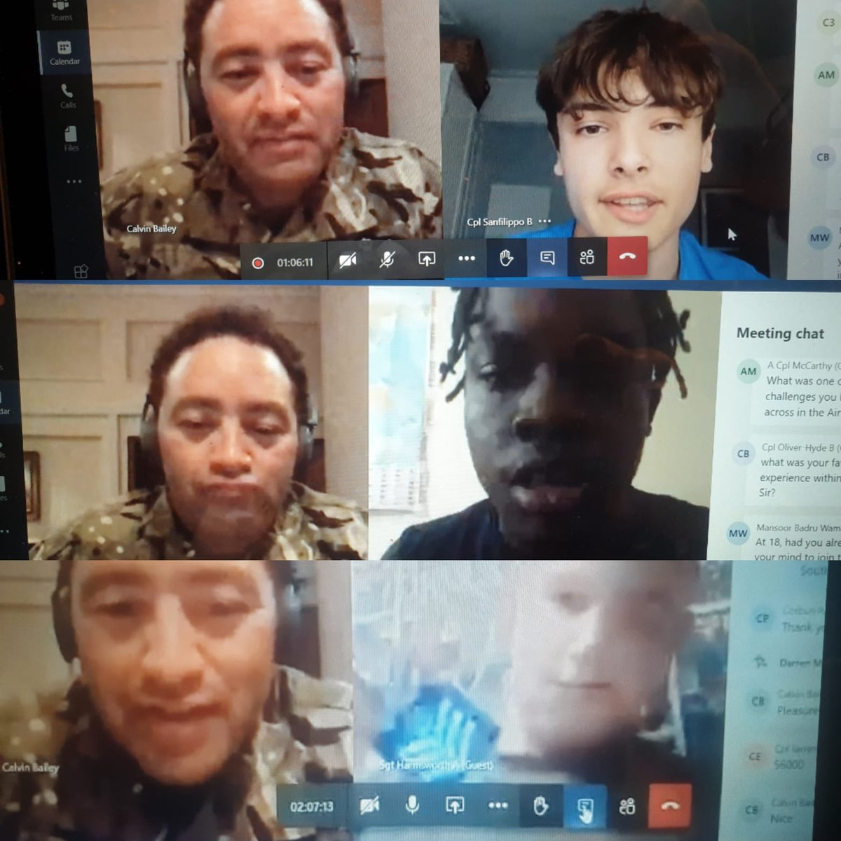 Privileged to be joined online by one of our Ex Cadets Wg Cdr Bailey. A massive thank you to you and your team for an excellent session.. you are an inspiration Sir ! @GLRFCA @Royal_Greenwich @aircadets @338Squadron @aircadetslaser @oclondonwing @WoolwichPigeon @RoyalAirForce https://t.co/JMi3qFM8bv