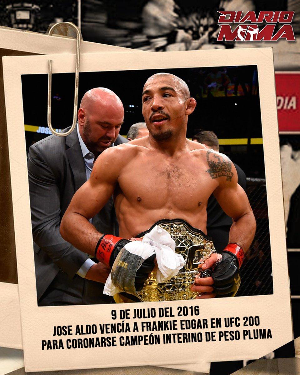 Un día como hoy pero del 2016 Jose Aldo superaba a Frankie Edgar en #UFC200 y obtenía el título interino de peso pluma. 4 meses después era promovido a campeón indiscutido. #JoseAldo #Aldo #UFC #MMA #TBT #UFC251 https://t.co/wxIvzqCS0n
