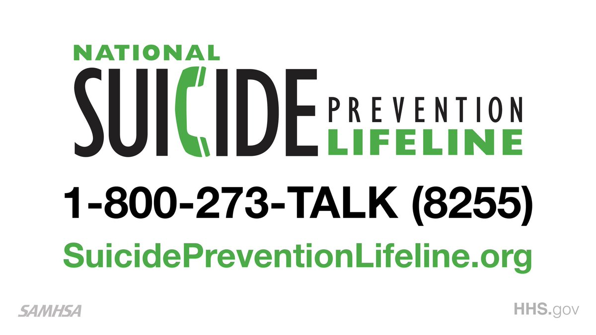 If you or someone you know is thinking about suicide call 1-800-273-8255 and press 1 if you're a #Veteran or live chat @800273TALK. Remember, it's okay to say you are not okay.