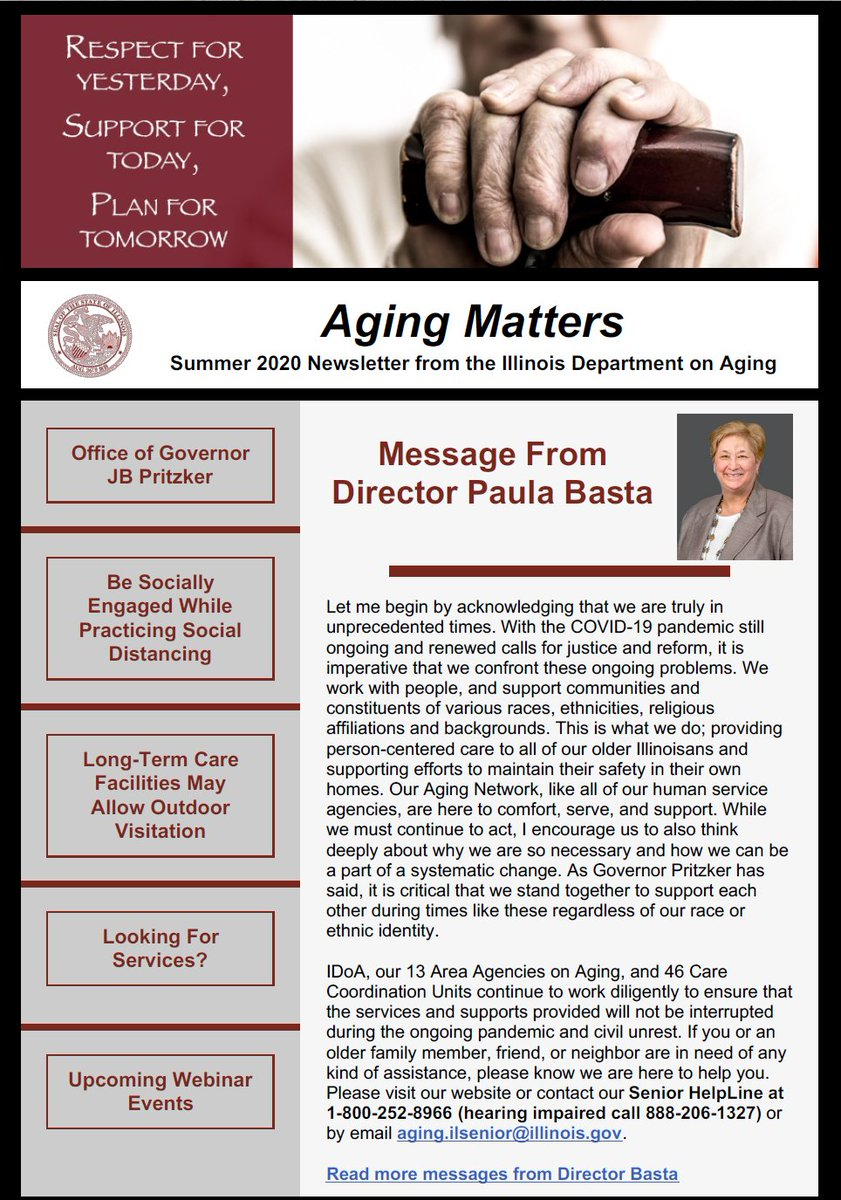 Illinois Department On Aging A Twitter Have You Signed Up For Agingmatters Yet It S The New Quarterly Newsletter From Idoa Go Read The Whole Thing Https T Co Uuflcyw7e6 Ageguide Seniorillinois Eciaaa5 Centerssenior Chifamsupport Ageoptions