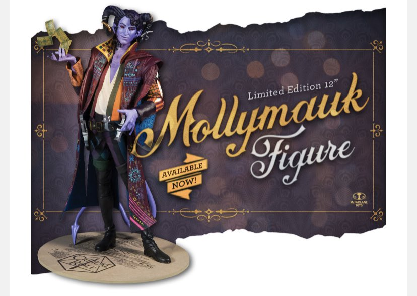 "So I bought the #MollymaukTealeaf figure and when I showed it to @KaggyFilms his first response was ""isn't he dead?"" https://t.co/XbnHk4r4RC"