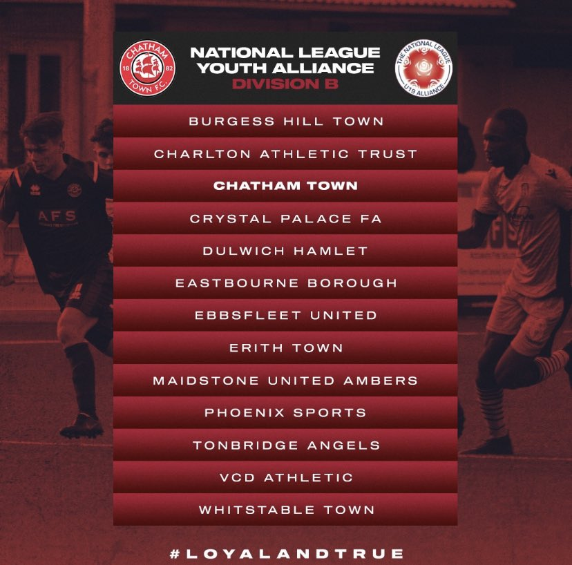 In our debut season in the National Youth Alliance League we now have confirmation of our opponents which are listed below 👇🏼👇🏼Some big teams in there and all will come to the @bauvill on Wednesday Afternoons #UpTheChats #Youth 🔴⚫️🔴 https://t.co/14kDVizFrw