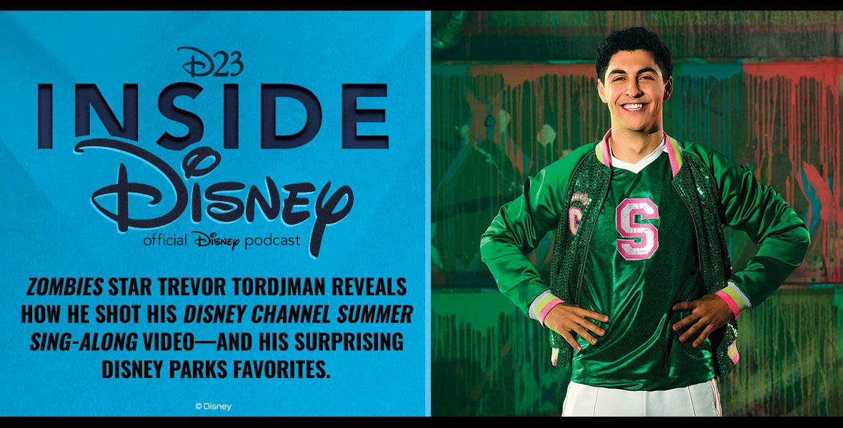 #ZOMBIES2 star @TrevorFlanny reveals his (very surprising!) dream Disney character to cheer with—plus, get behind-the-scenes details on the #DisneyChannelSingAlong:  Spotify:  Apple Podcasts:  #D23InsideDisney