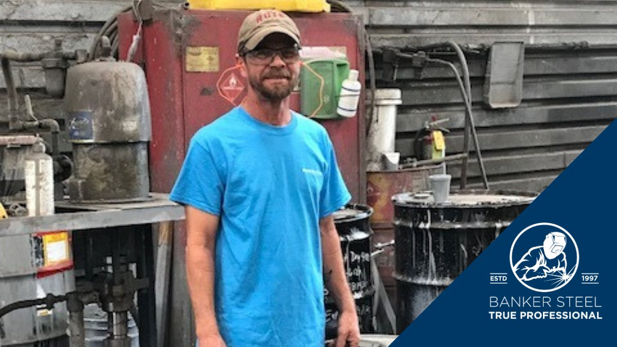 In his spare time, Charles enjoys spending time with his wife of 32 years and his 15- year- old son as well working around the house and fishing. Way to go, Charles! We're proud to have you on our team! . . . #team #TrueProfessional #bankersteel #steelindustry #steelfabrication