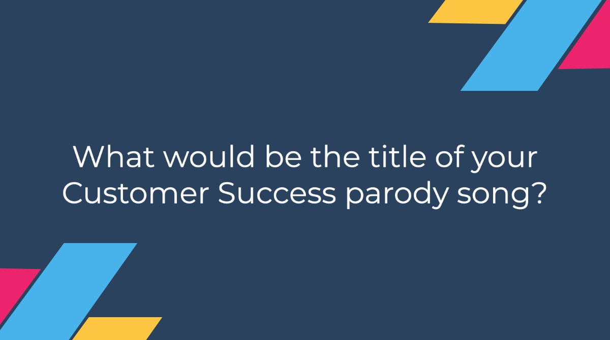 "We're kind of obsessed with parody songs here at Gainsight (maybe you remember ""Trends in Support Cases""). Take a #WorkBreak and let us know what the title of your #CustomerSuccess parody song would be! We'll start:   Adopt It Like It's Hot 🔥 https://t.co/vCwVLsNGx3"