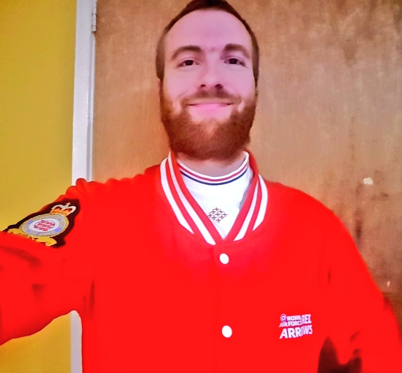 With the Royal Air Force aerobatic team the #RedArrows passing their public display authority yesterday it's great to be able to get back in my red outfit unfortunately no shows to attend. Can't wait for the day we can get back to the #airairshow circuit @airforcegifts https://t.co/M0E2LTkYy1