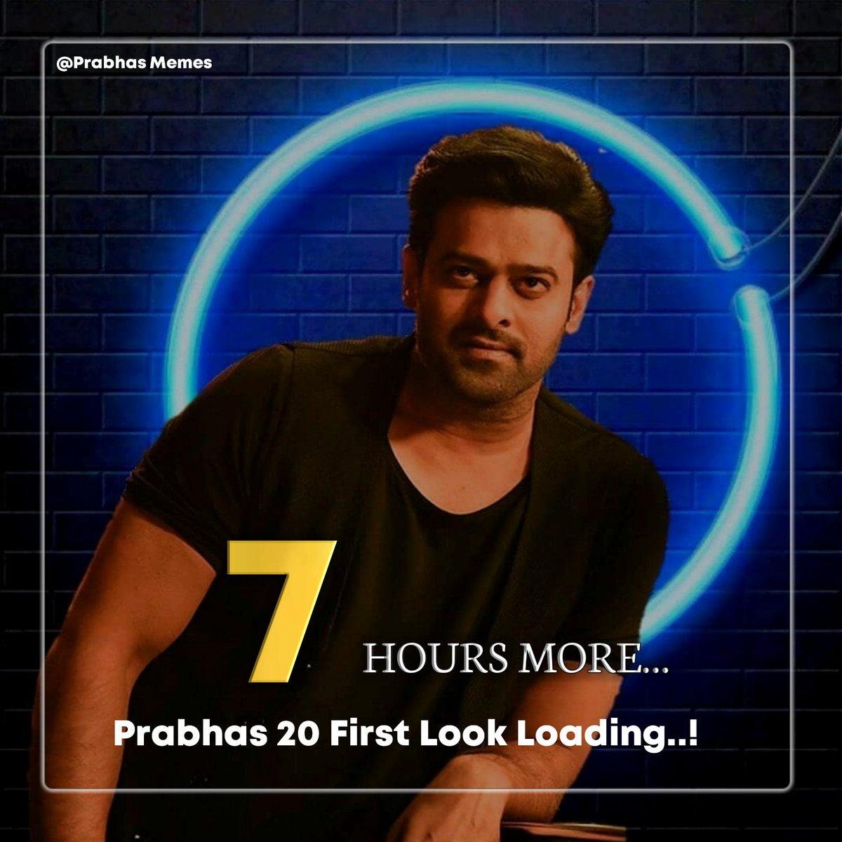 7 hours more  for #Prabhas20FirstLook   #Prabhas #Prabhas20 pic.twitter.com/hoCGpi1hKu