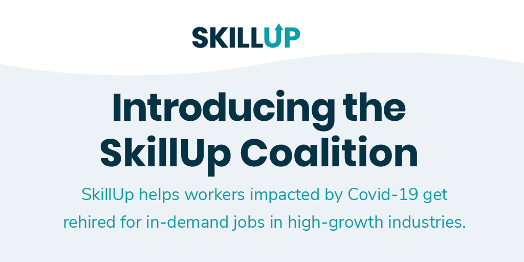 We've joined the SkillUp Coalition by providing our Next Chapter technology platform to support displaced workers as they look to reskill & enter new, higher-paying careers. Interested in joining us as a hiring partner or learning provider? Visit https://t.co/7fjZQkrEmS https://t.co/p8RJFojHaH