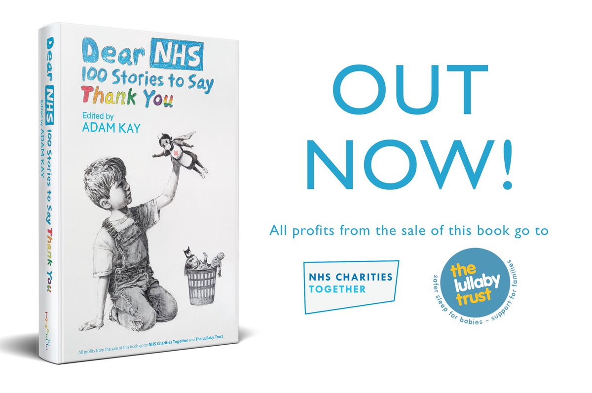 """I'm so honoured to have been asked to contribute to the #DearNHS """"100 Stories to Say Thank You"""" book by Adam Kay (@amateuradam) - OUT NOW! smarturl.it/DearNHS All profits are going to @NHSCharities & @LullabyTrust"""