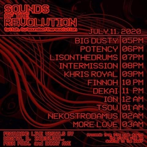 Playing a benefit stream for #BLM with a bunch of talented friends and artist :)  Tune in this Saturday! 📺🥵  All proceeds go towards the NAACP! #SoundsOfTheRevolution https://t.co/huOhL7XnW4