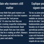 Image for the Tweet beginning: Explain why manners still matter