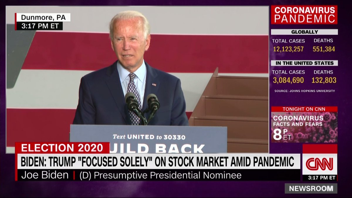 Something tells me that @realDonaldTrump isnt going to be happy that all the major outlets carried @JoeBidens speech live today. 😂😂