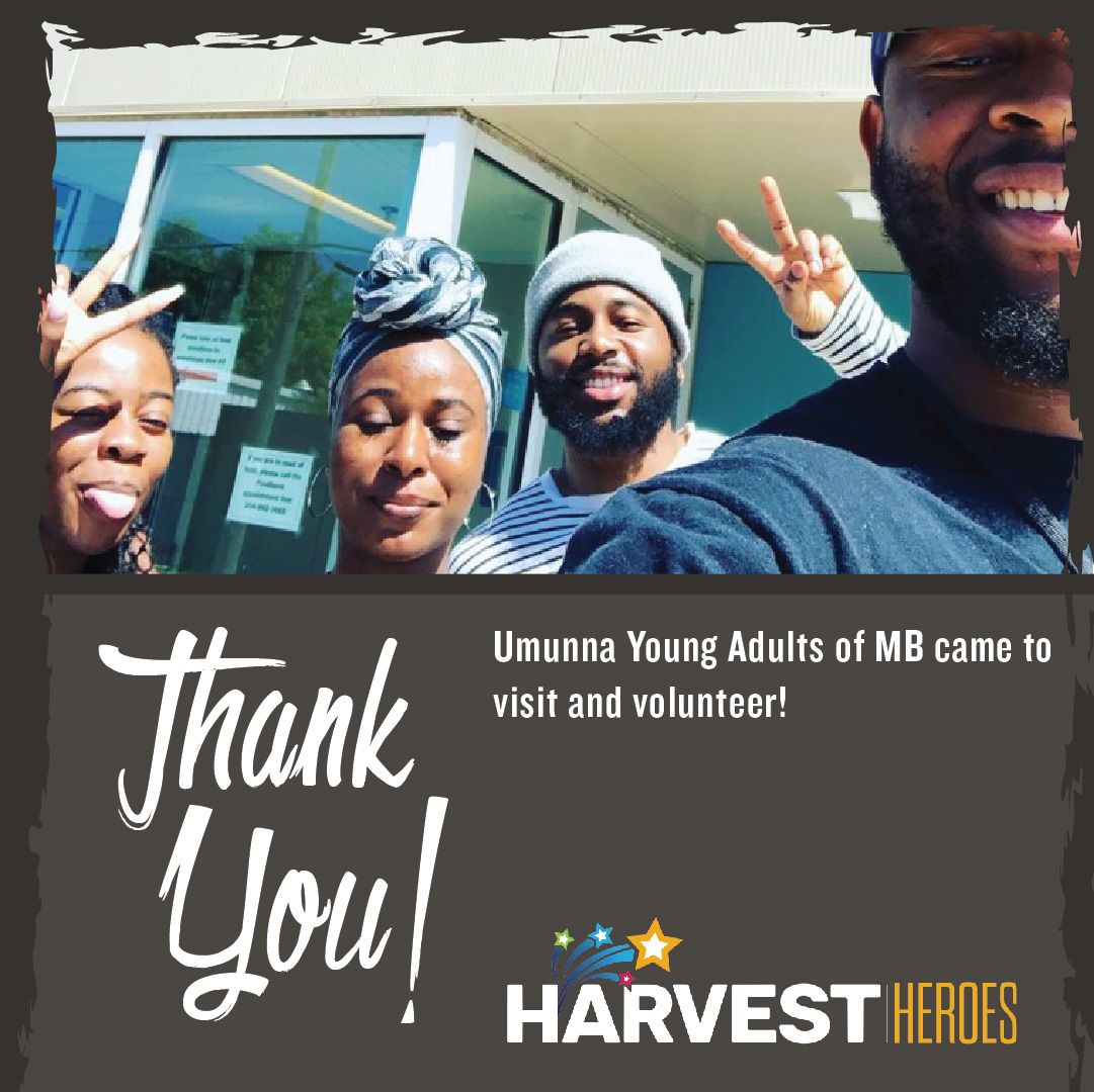 Thank you to Umunna Young Adults of MB for volunteering!  #ThankfulThursday https://t.co/RIdC8vowfg