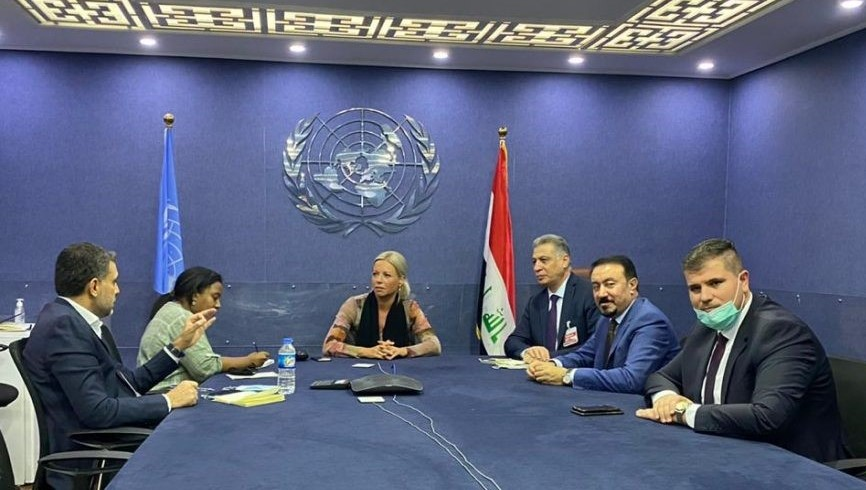 SRSG for #Iraq, Jeanine Hennis-Plasschaert, met today at UNAMI offices in Baghdad w/ reps. of #Kirkuk's Arab and Turkmen communities. Discussions centered on ways to advance the dialogue among Kirkuk's components in the search for solutions to the province's political problems. pic.twitter.com/1m3pk4g9CI