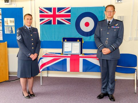 It was a great that during his visit @AlGillespieRAF was able to present honours/awards to personnel from the Whole Force here at RAF Scampton. #NoOrdinaryJob https://t.co/AyVMisGHfN