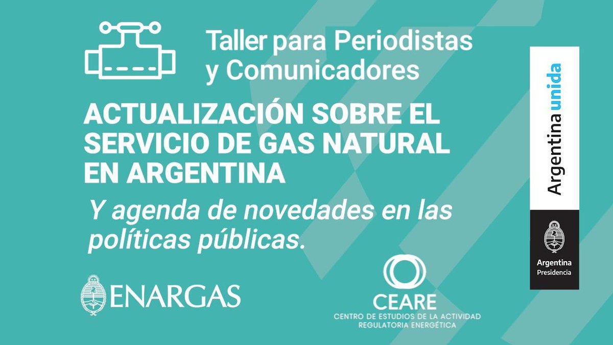 📝TALLER DE CAPACITACIÓN PARA PERIODISTAS  Actualización sobre el servicio público de gas natural en Argentina y agenda de novedades en las políticas públicas.  Abierta la inscripción hasta el 21 de julio!   👉🏻 https://t.co/CqozuEmnbw https://t.co/nYai7Id8o3