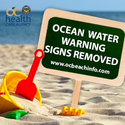 We've removed the Ocean Water Warning near the San Gabriel River jetty in #SealBeach. Bacterial levels met health standards. Visit http://OCBeachInfo.com to check on the quality of Orange County's beaches and bays. #ocbeachinfopic.twitter.com/5RslwCJkUO