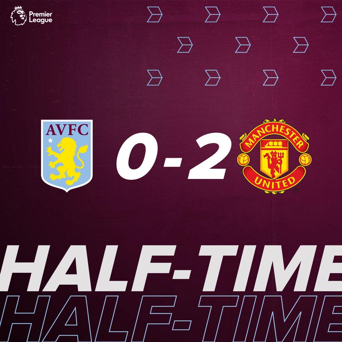Half-time at Villa Park.  #AVLMUN #AVFC https://t.co/cKoBZTniE7