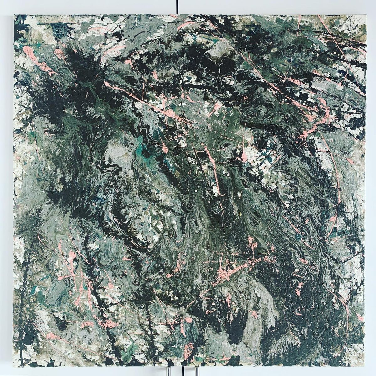"""Forest Ash""  Oil based primer on stretched framed canvas. '36 x 36' For Sale   #Artist #artoftheday #artoncanvas #art #artcollector #painting #abstract #modernpainting #myart #sellingart #buyartfromartists  #studio #studioart #twitterartpic.twitter.com/oKJvJhdgnJ"