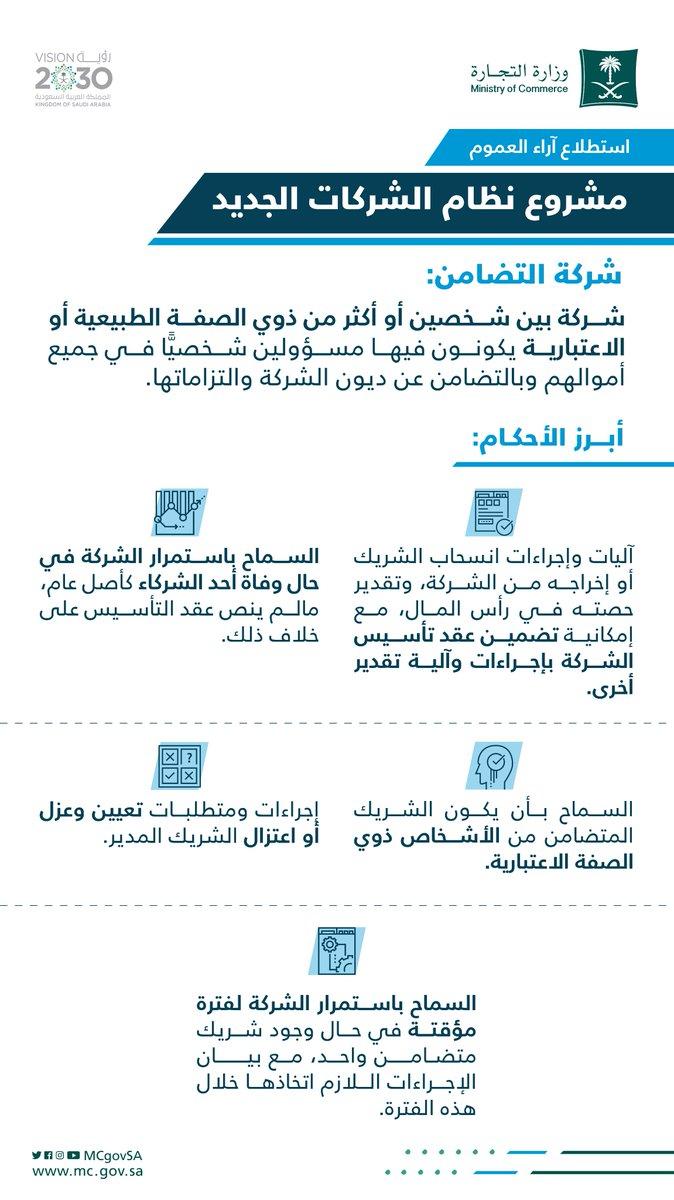 أبرز أحكام شركة التضامن. مشروع #نظام_الشركات_الجديد https://t.co/qcmkpjkNkj