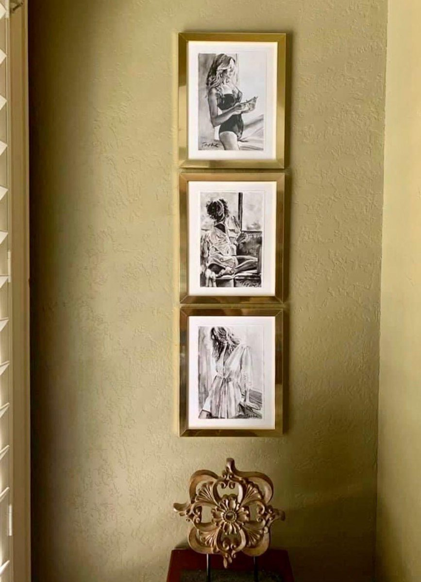 Sweet dreams my dear friends, just want to share with you  My drawings are framed by art collector from United States. Thank you dear Amy, they look are amazing and very stylish in your interior. Excellent idea with decor. Good job #tasheart #artcollector #artonline #pic.twitter.com/CBkIjRe44b