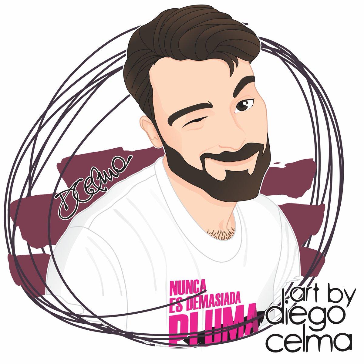 «Wingapo, maricones!» Spanish actor & youtuber @MrAvelain: dismantling prejudices with lots of laughs.  #artbyDiegoCelma #MrAvelain #AvelinoPiedad #portrait #actor #youtuber #socialmedia #comedy #activist #gay #spanish #illustration #drawing #art #fanart #artwork https://t.co/uKlmyZ3bMR