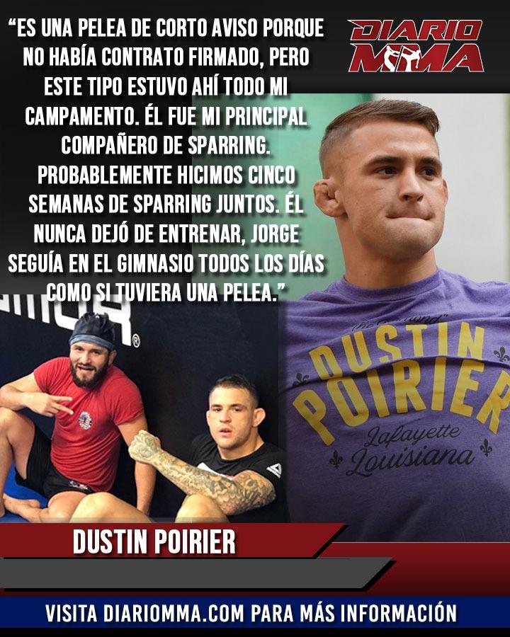 Dustin Poirier asegura que no hay de qué preocuparse pues Jorge Masvidal nunca dejó de entrenar por si llegaba la oportunidad. #DustinPoirier #Poirier #ElDiamante #JorgeMasvidal #Masvidal #Gamebred #ufc251 #att #UFC #MMA #DiarioMMA La nota completa en https://t.co/GdRoYWCQ8Q https://t.co/FW2GYCB9CR